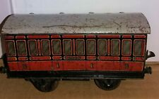 Vintage Hornby O Gauge LMS Mixed 1st/3rd 4-Wheel Coach - Free Postage