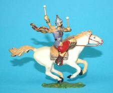 ELASTOLIN 4CM 40MM SERIES No. 8750 MOUNTED HUN HORSE RIDER HUNNE 1960s GERMANY
