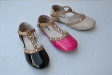 JB-yc780 Girl ankle strap metal deco fashion sandals shoes size 11-4