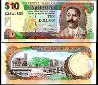 BARBADOS 10 DOLLARS 2007 P 68 UNC