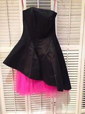 Betsey Johnson Double Windsor evening dress - black/pink sz 0