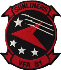 Strike Fighter Squadron 81 VFA-81 Sunliners US Navy USN Embroidered Patch