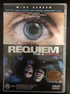REQUIEM FOR A DREAM DVD Jared LETO Jennifer CONNELLY Ellen BURSTYN Region 4