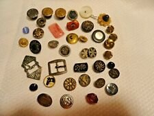 Lot old buttons balloon overall horse stone