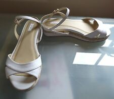 Next Ladies Sandals New 5 38 Beach Summer Shoes Holiday Flat Casual BNWOT White