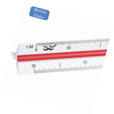 "Mr. Pen- Architectural Scale Ruler (Metric), 12"" Aluminum Architect, Triangular"