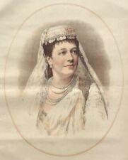 1884 Large Tinted Lithograph- Portrait of Madame Albani - Canadian Opera Soprano