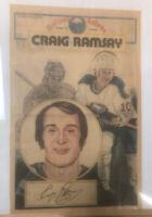 Vintage Buffalo Sabres Poster Craig Ramsay Buffalo News Memorial Auditorium