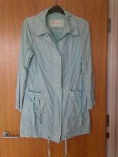 MONSOON  light pale mint ( green / blue) parka coat raincoat - Size UK 14