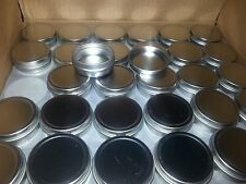 tins, 1/2 oz. flat tin container with slip cover, small round, box of 300