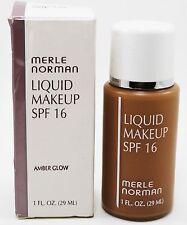 merle norman liquid makeup foundation  (amber glow) 1 fl