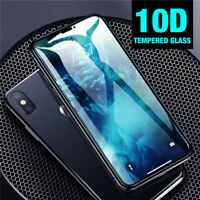 Real 10D Curved Full Tempered Glass Film Protector For iPhone XS Max XR X 8 7 6S