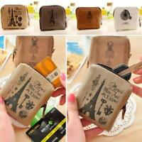 Gift Canvas Classic Mini Zip Wallet Purse Pouch Holder Coin Bag