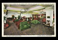 USA California LOS ANGELES Hotel Rosslyn Lobby Advert c1900s? PPC