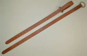 """Breast Collar Pulling Tugs - 1"""" x 30"""" - Russet Leather - 1 Pair (F550)"""