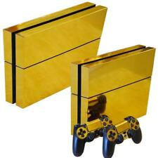 Gold PS4 Playstation 4 Skin Wrap Sticker Decals Cover Console + 2 Controller Set