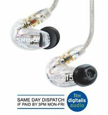 Shure SE215-CL Sound Isolating Earphones - Clear Earbuds Headphones NEW