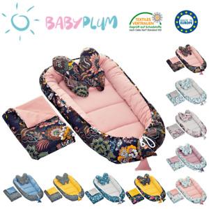 3tlg Babykokon Baby Nestchen Babynest + Decke Kissen Kuschelnest BABY-PLUM