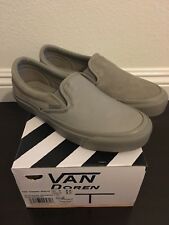 New Vans x Engineered Garments OG Slip-on LX Size 6.5 Moonrock Mis-match Leather