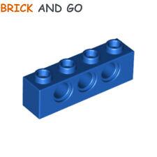 2 x LEGO 3701 Brique Trous (bleu, blue) Brick Technic 1x4 Holes NEUF NEW