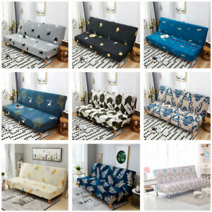 Armless Sofa Bed Slipcover Stretch Elastic Full Folding Couch Cover Protector