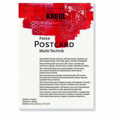 NUEVO kreul Papel Postal, DIN A6, 20 Blatt, 300g