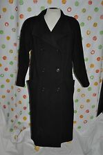 Black  WOMEN'S size 6  long  IMAGES WOOL COAT  USA