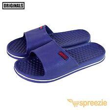 Blue Men's Sandals Sport Slides Slip On Beach Slippers House Shoes Footwear New