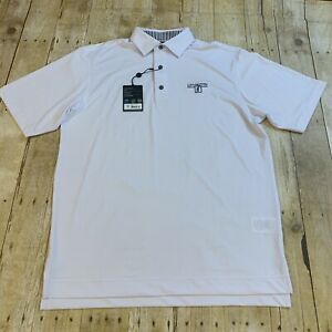 FootJoy FJ Men's White Polo Golf Shirt Medium New NWT Lexington Country Club FL