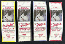 Lot of 4 Stanford Cardinal Football Ticket Stubs - 1986