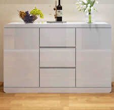 New High Gloss White Modern Sideboard Buffet Cabinet Hall Table Door and Drawers