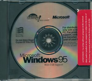 Microsoft Windows Windows 95 OS Install CD with product key and manual