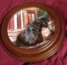"""Playful Puppies Series """"It Wasn't Me"""" Lab Puppy - Artist John Silver 8in framed"""