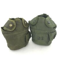 Lot of 2 USGI Water Canteen Cover, Military Issue ALICE 1 QT OD Canteen Pouch