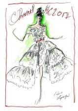 KARL LAGERFELD sketch - Chanel Haute Couture 2017 - print