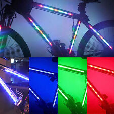 KIT 2 STRISCIE LED A BATTERIE PER BICI BICICLETTA MOUNTAIN BIKE CORSA TUNING