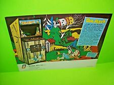 Midway DOG PATCH 1975 Original Retro Vintage Video Arcade Game Promo Sales Flyer
