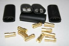 4.7mm Brass Bullet Connectors & Sockets Lucas Style Wiring Terminals PACK 25