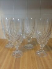 Set of 4 Iced Tea Glasses Stems Goblets Crystal Dublin Godinger Shannon