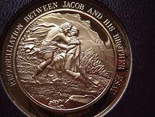 Thomason Medallic Bible 15: RECONCILIATION BETWEEN JACOB AND ESAU. Franklin Mint