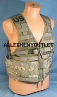 MOLLE II ACU Fighting Load Carrier VEST w/ 2 Triple Mag Pouches FLC US Army VGC