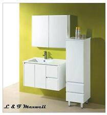 PVC Wall Hung VANITY with Finger Pull Vanity Door and Ceramic Basin 900mm