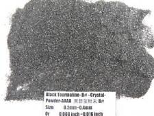 B# Natural Black Tourmaline Crystal Stone Specimen Grinding Sand Powder Healing