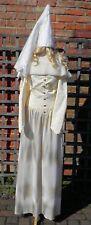 Cream Medieval Princess Lady Womens Fancy Dress Costume UK 10-12