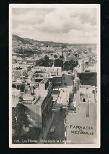 Spain Gran Canaria LAS PALMAS Vista desde la Catedrale Used 1938 RP PPC fault