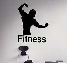 Fitness Logo Wall Vinyl Decal Sport Gym Emblem Vinyl Sticker Window Stickers 27