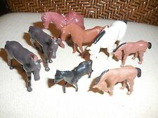 Lot 8 figurines animaux chevaux