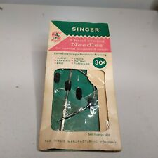 Vintage SINGER Hand Sewing Needles 2 Heavy Fabric Needles