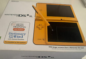 Nintendo DSi XL Yellow Handheld System Console Bundle + 10 Games & Charger