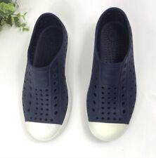 Native Jefferson Slip On Water Shoes Size J2 Youth J2 Navy Blue/ White